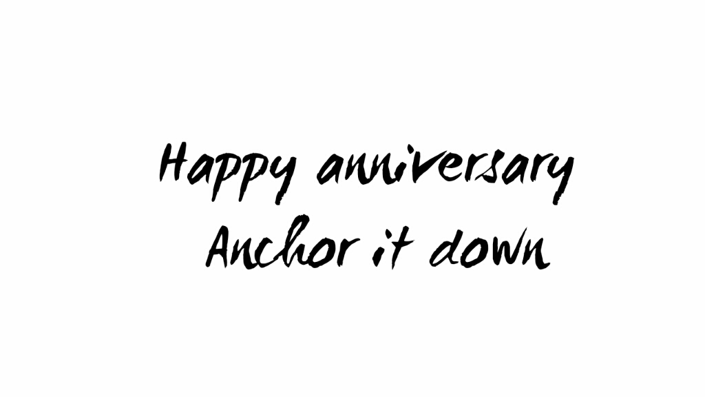 Happy anni anchoritdown